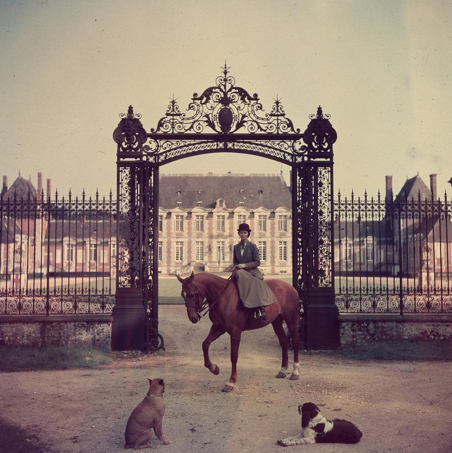 Equestrian Entrance Photograph by Slim Aarons