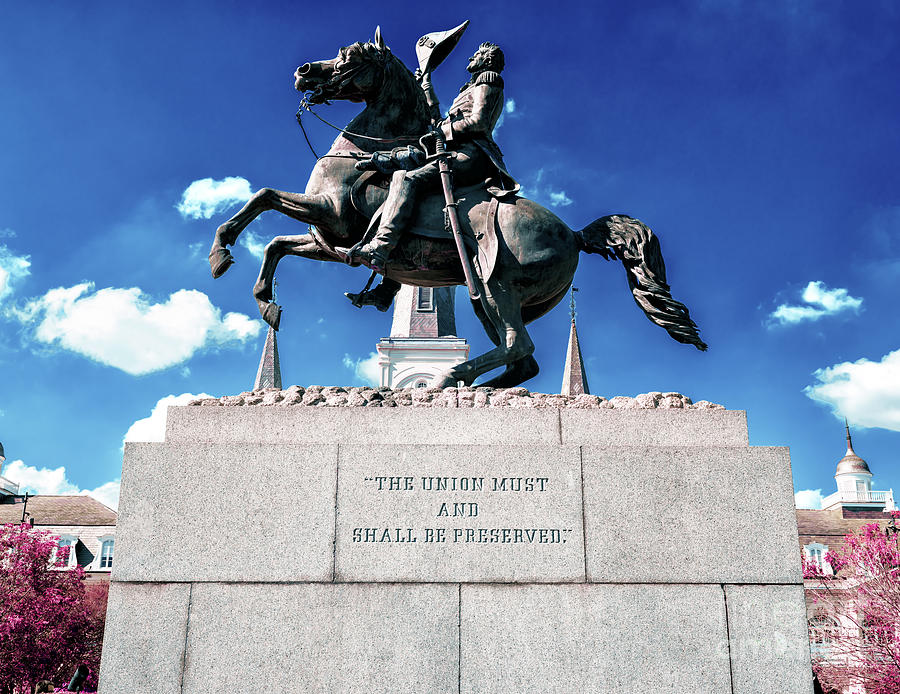 Equestrian Statue of Andrew Jackson in New Orleans by John Rizzuto