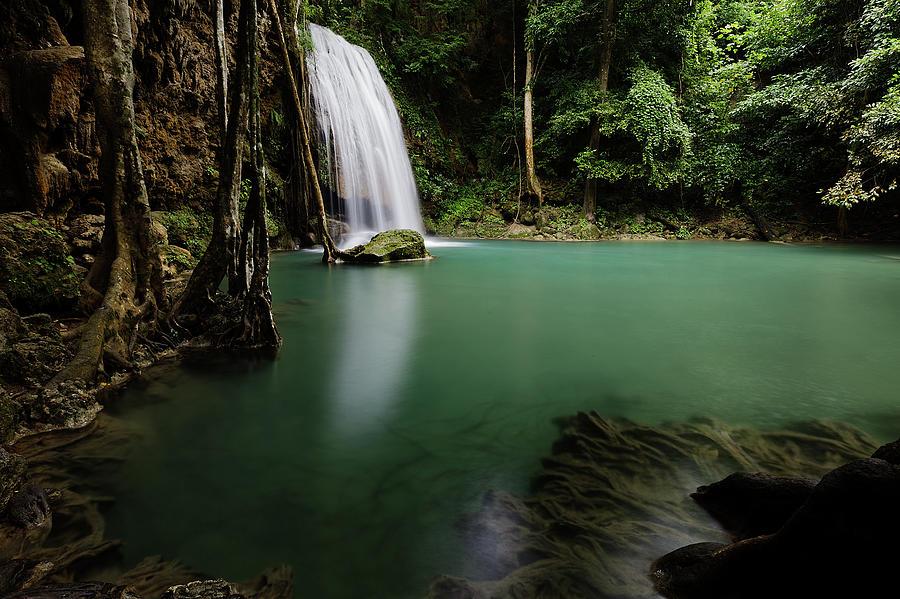 Erawan Waterfalls By Nobythai