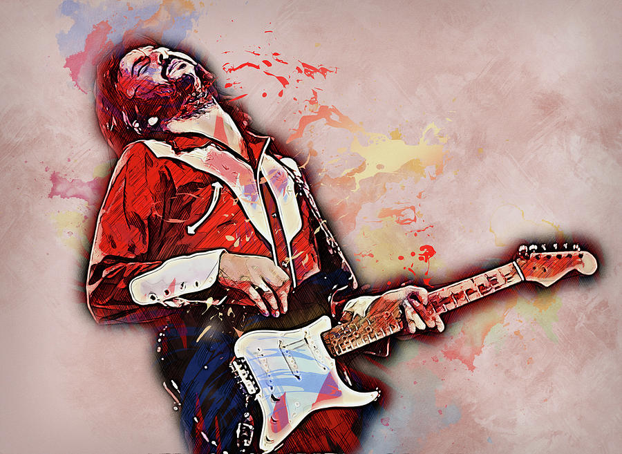 Eric Clapton Painting - Eric Clapton - 14 by Andrea Mazzocchetti