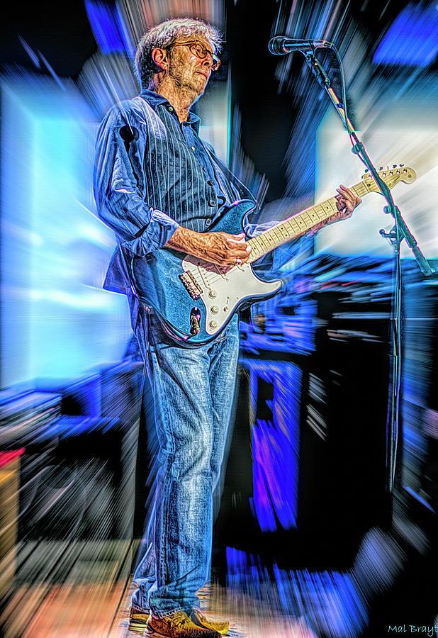 Eric Clapton Mixed Media - Eric Clapton Slowhand by Mal Bray