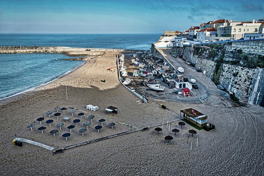 Ericeira Beach and Boatyard Dawn - Portugal by Stuart Litoff