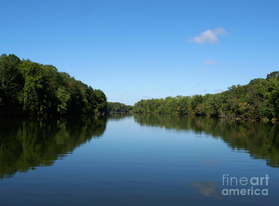 Erie Canal Photograph - Erie Canal In Early Autumn by Louise Heusinkveld