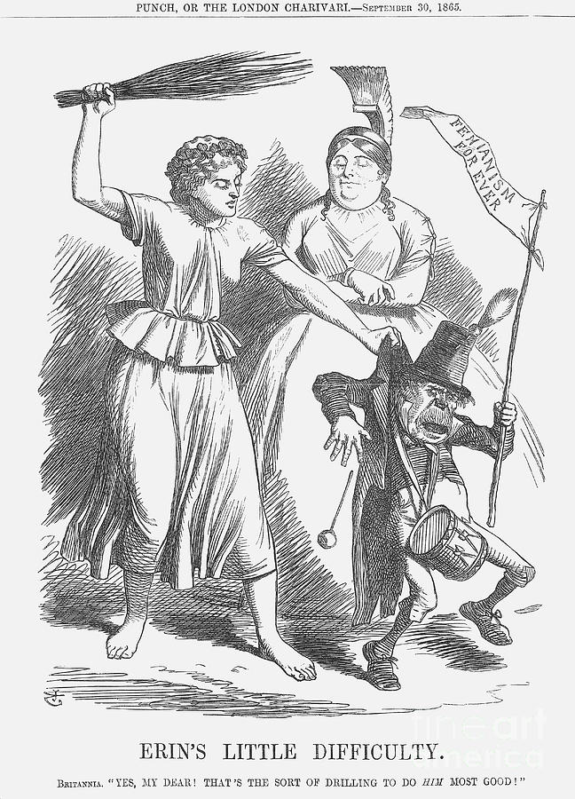 Erins Little Difficulty, 1865. Artist Drawing by Print Collector