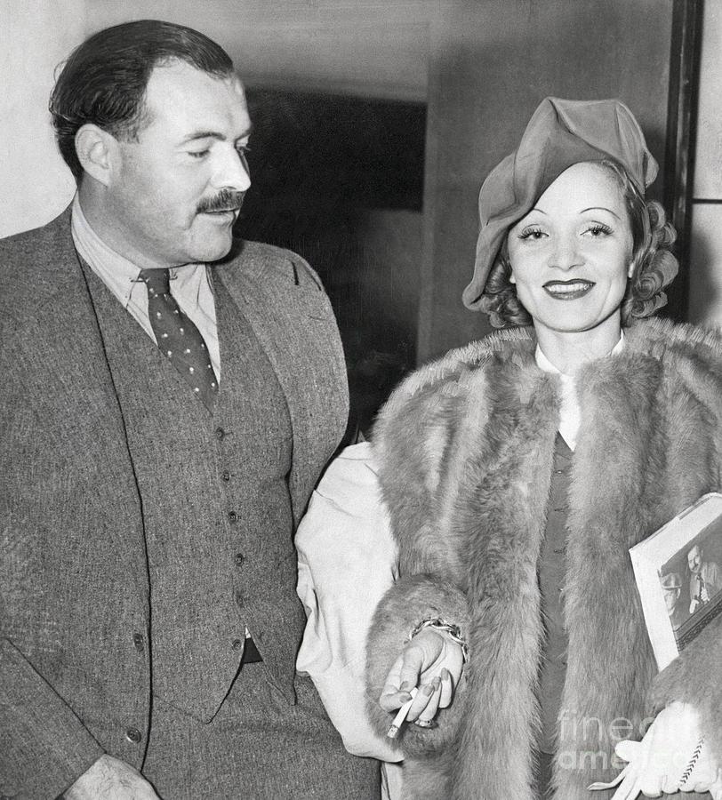 Ernest Hemingway And Marlene Dietrich Photograph by Bettmann
