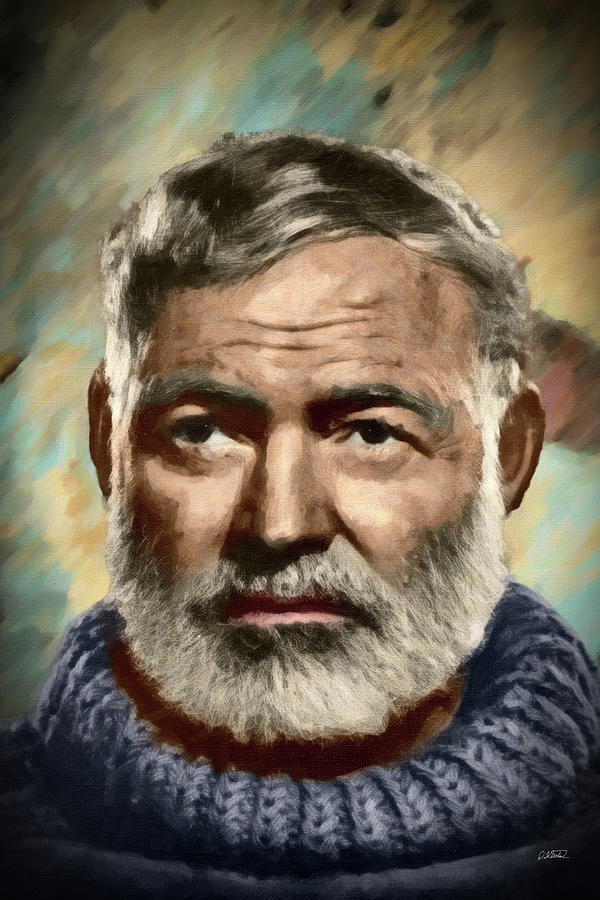 Ernest Hemingway - DWP1200534 by Dean Wittle