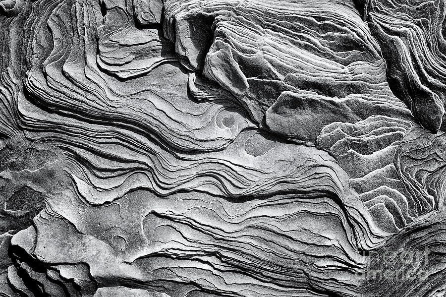 Eroded Sandstone Monochrome by Tim Gainey