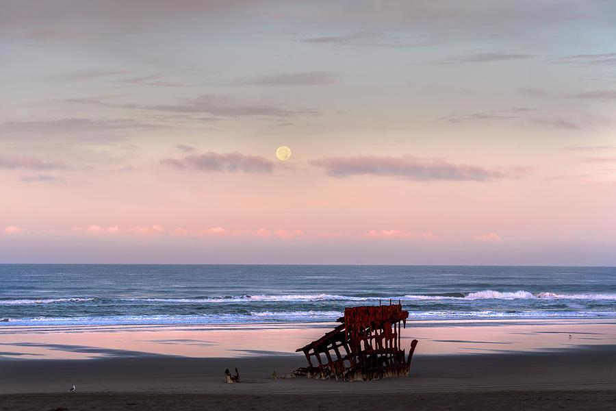 Sunrise Moon by John Poon