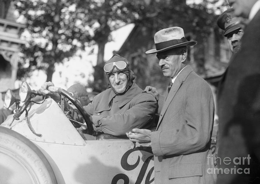 Erwin Baker Waiting To Start Auto Race Photograph by Bettmann