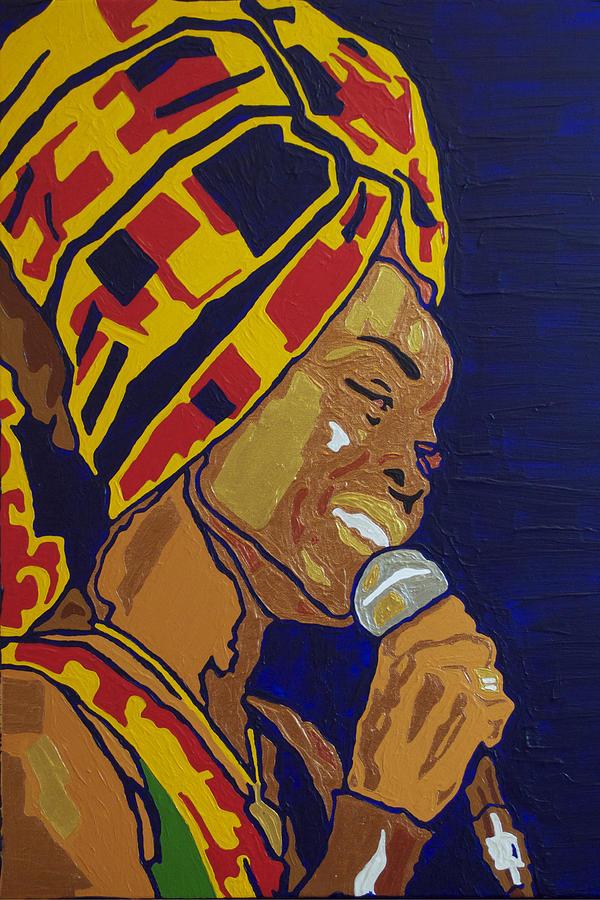 Erykah Badu Painting - Erykah Badu by Rachel Natalie Rawlins