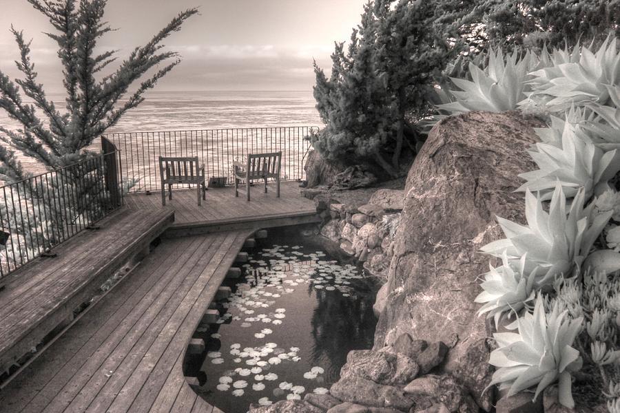 Esalen Institute mediation big sur california infrared by Jane Linders