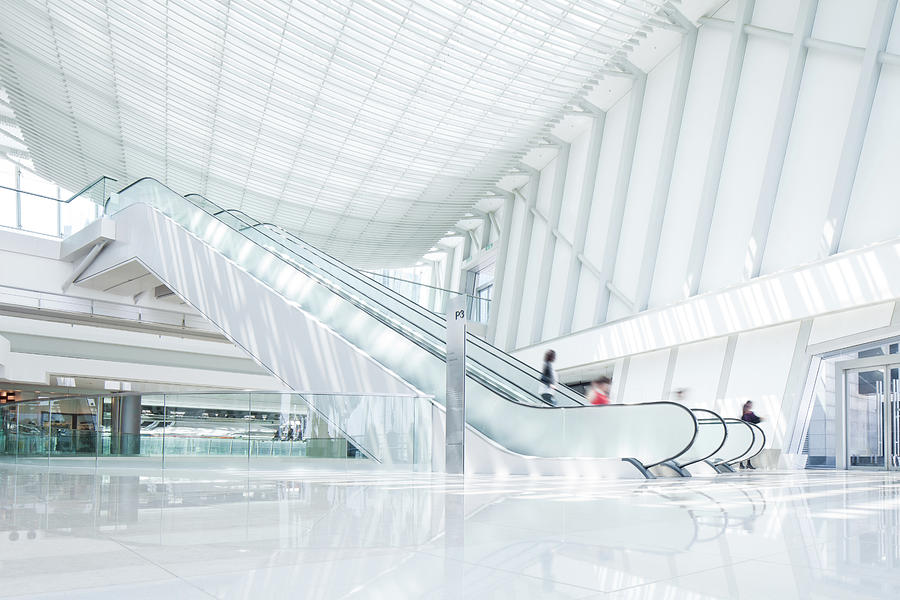 Escalator Photograph by Tomml
