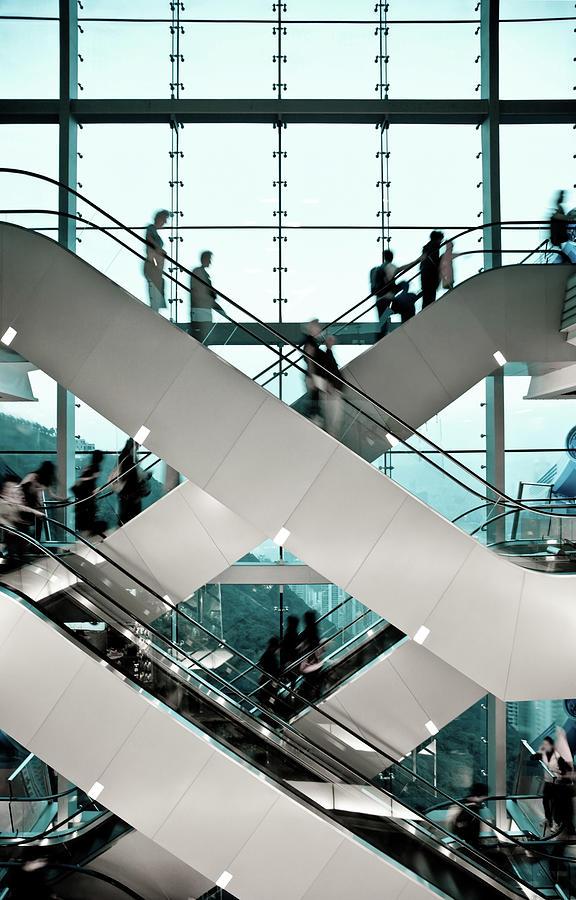 Escalator Photograph by Ymgerman