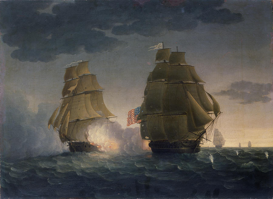 Escape Of Hms Belvidera From The Us Photograph by The New York Historical Society