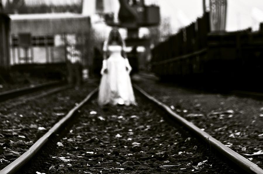 Bride Photograph - Escape by Zivko Risteski