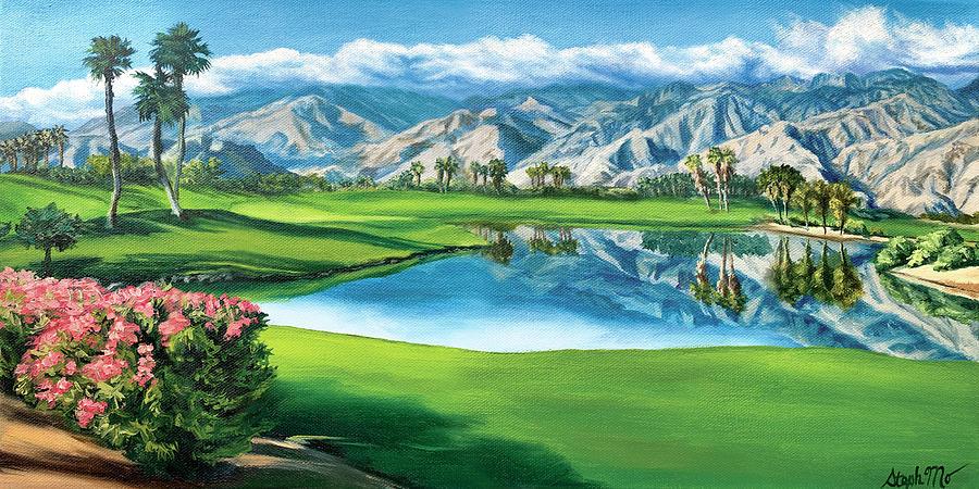 Palm Springs Painting - Escena Golf Club by Steph Moraca