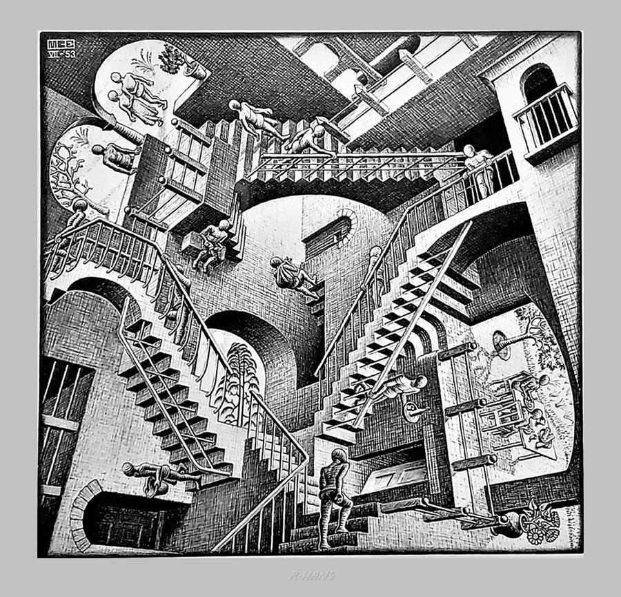 Maurits Cornelis Escher Photograph - Escher 131 by Rob Hans