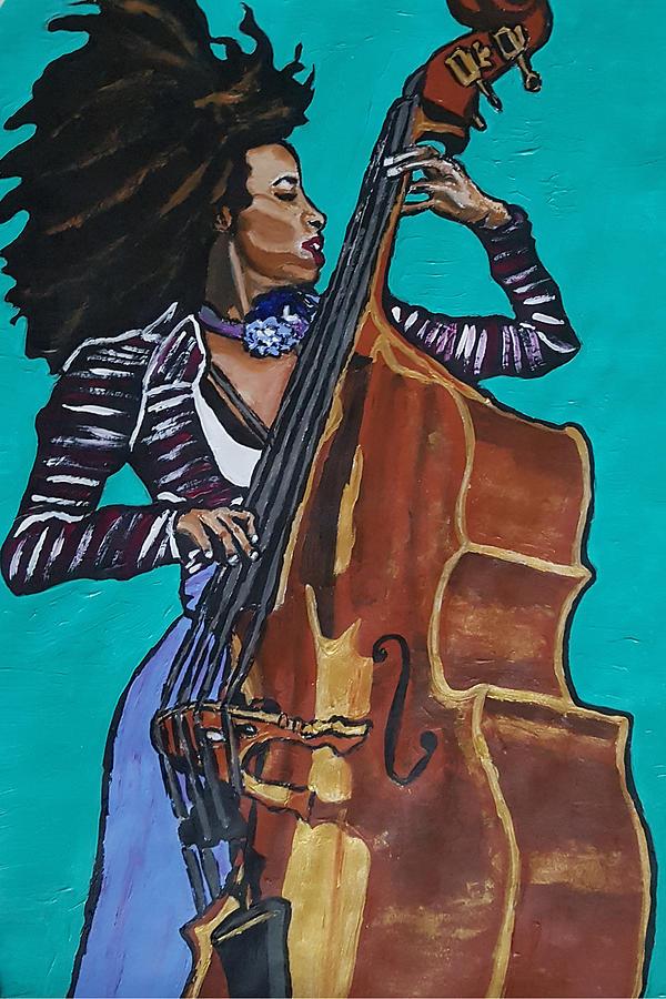Esperanza Spalding Painting - Esperanza Spalding by Rachel Natalie Rawlins