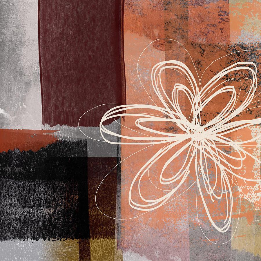 Flower Mixed Media - Espresso Flower 1-  Art By Linda Woods by Linda Woods