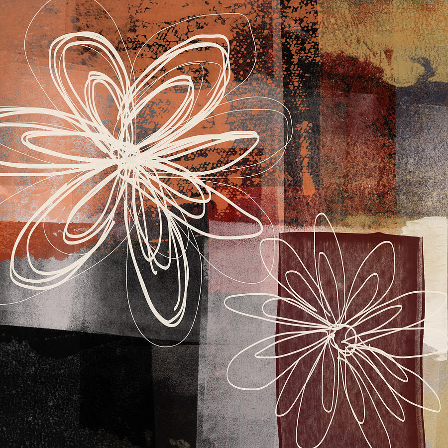Flower Mixed Media - Espresso Flower 2- Art By Linda Woods by Linda Woods