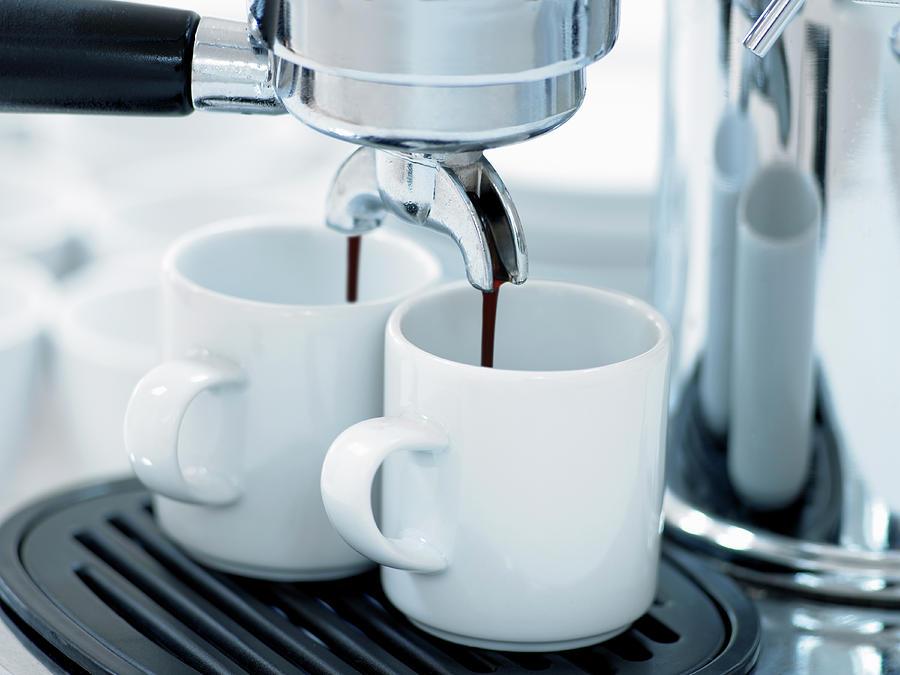 Espresso Machine Making Coffee Photograph by Adam Gault