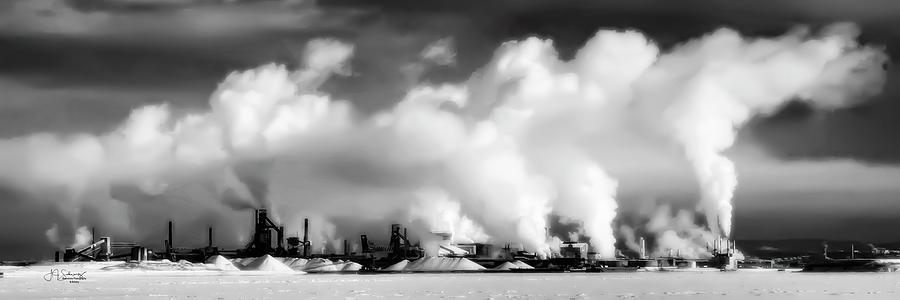 Factory Photograph - Essar Steel Winter by Allyson Schwartz