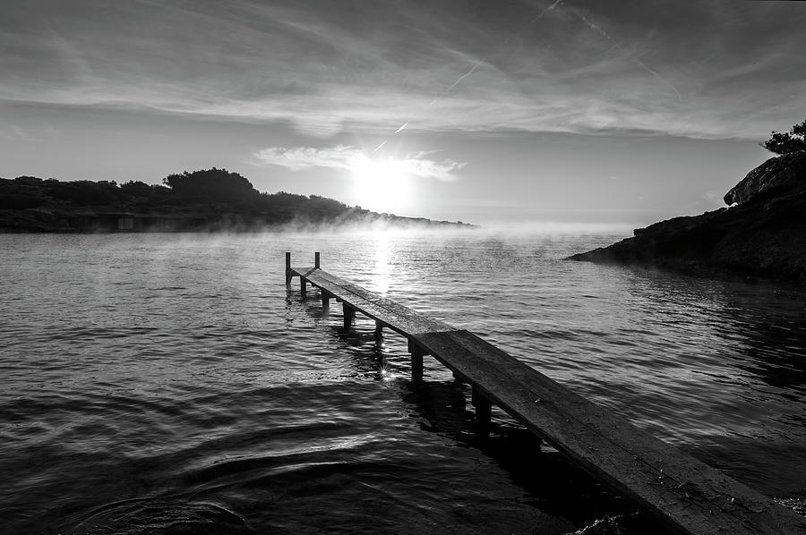 Estanyol Creek on the island of Ibiza at dawn, Spain by Vicen Photography