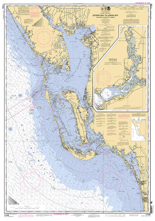 Estero Bay to Lemon Bay, NOAA Chart 11426 by Paul and Janice Russell