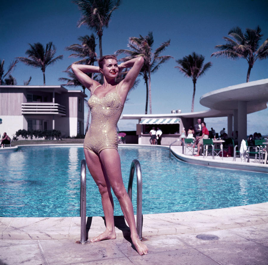 Esther Williams In Florida Photograph by Slim Aarons