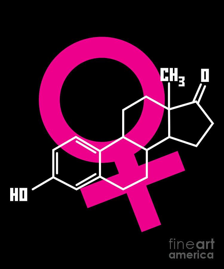 Estrogen Hormone Molecule Shirt For Feminists