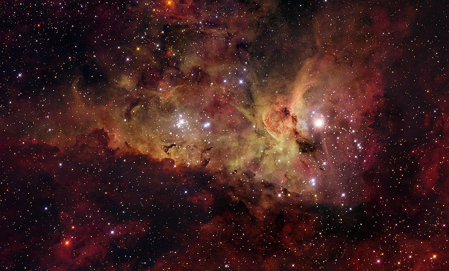 Eta Carinae Is A Colorful Southern Photograph by Stocktrek Images