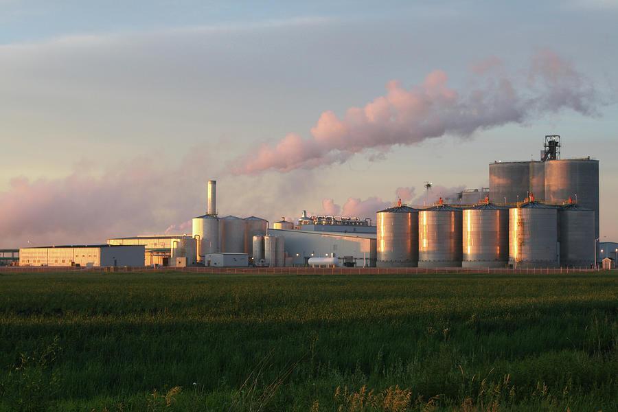 Ethanol Plant At Sunrise Photograph by Lynngrae