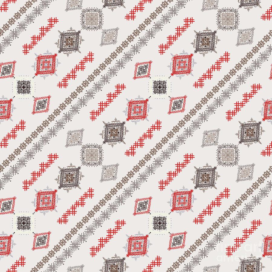 Rug Digital Art - Ethno Seamless Pattern. Ethnic Boho by Nataleana