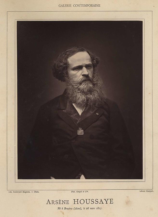 Etienne Carjat   Portrait Of Arsene Houssaye  1867 Woodburytype Painting
