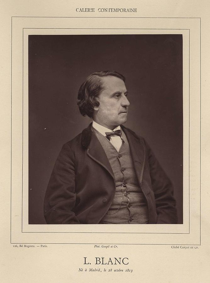 Etienne Carjat   Portrait Of Louis Blanc  1867 1877 Woodburytype Painting