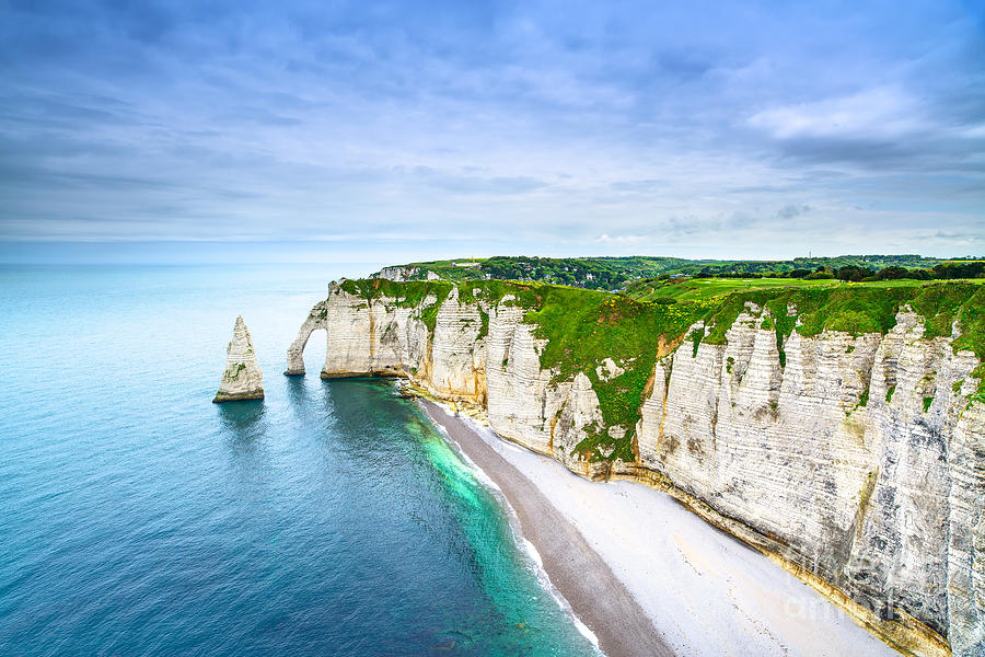 Tide Photograph - Etretat Aval Cliff, Rocks And Natural by Stevanzz