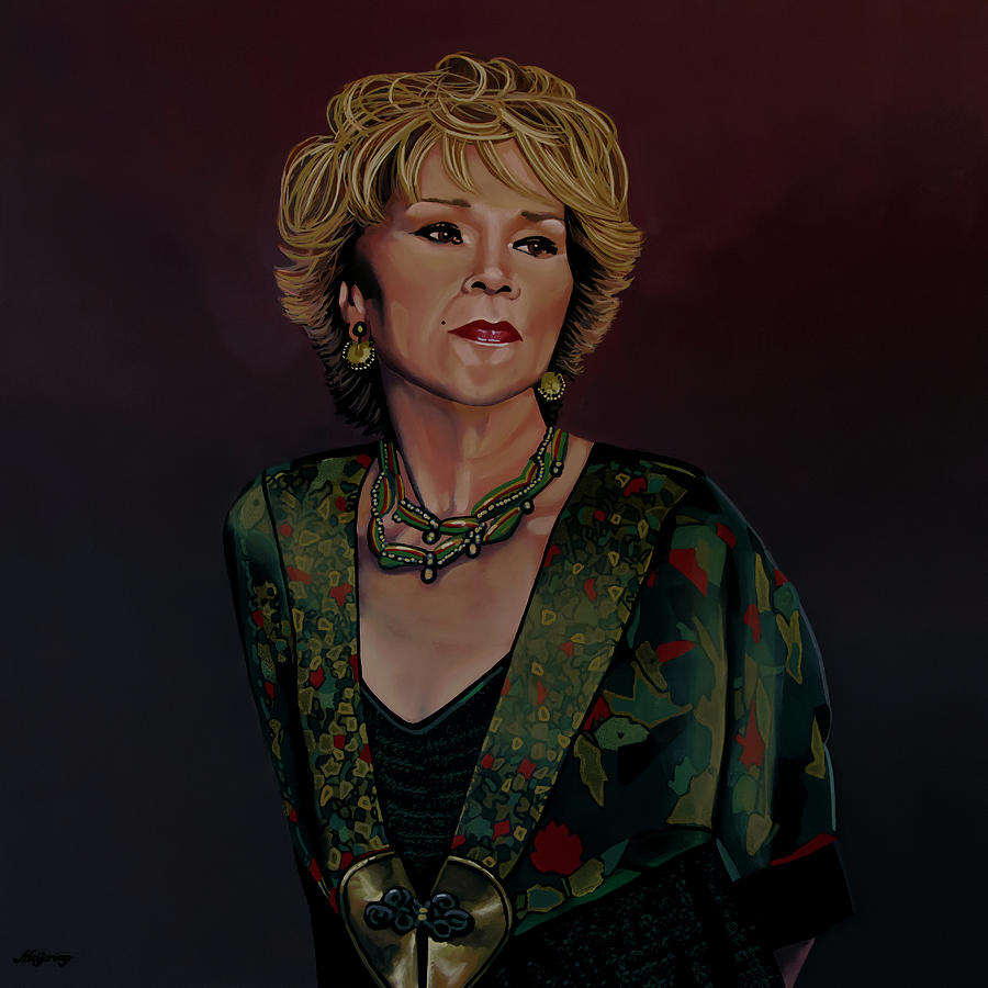 Etta James Painting by Paul Meijering