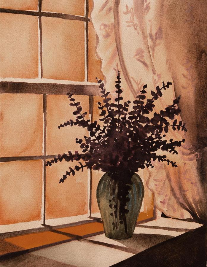 Eucalyptus in Window by Heidi E Nelson
