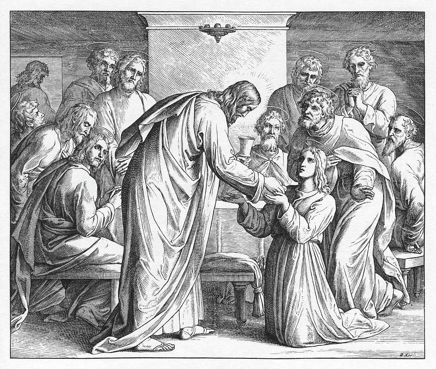 Bible Painting - Eucharist, Gospel Of Matthew by Julius Schnoor von Carolsfeld