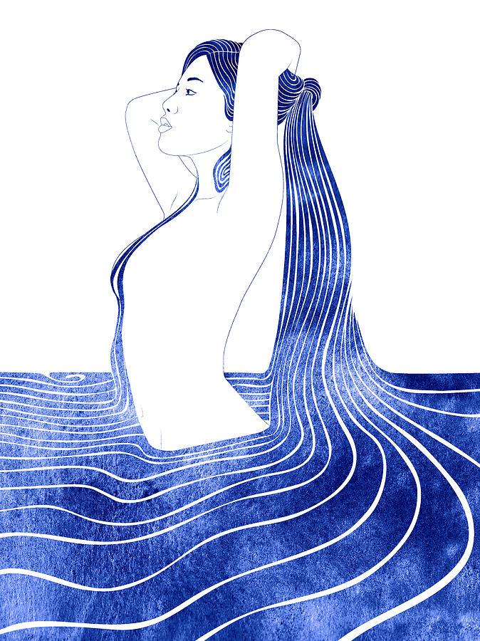 Aqua Mixed Media - Eulimene by Stevyn Llewellyn