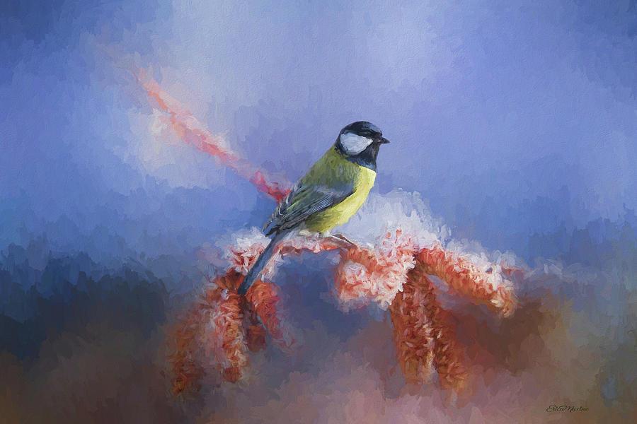 Eurasian Blue Tit Bird - Painted by Ericamaxine Price