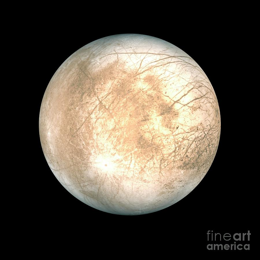 Europa Photograph - Europa by Tim Brown/science Photo Library