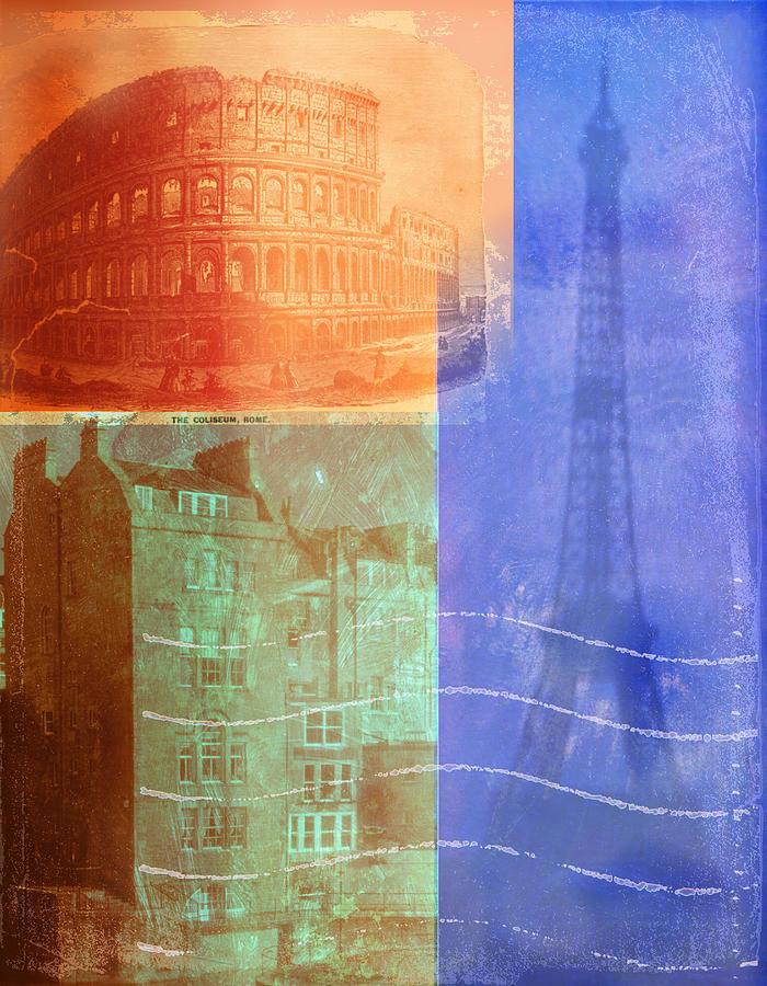 European Architecture Digital Art by Stephanie Dalton Cowan