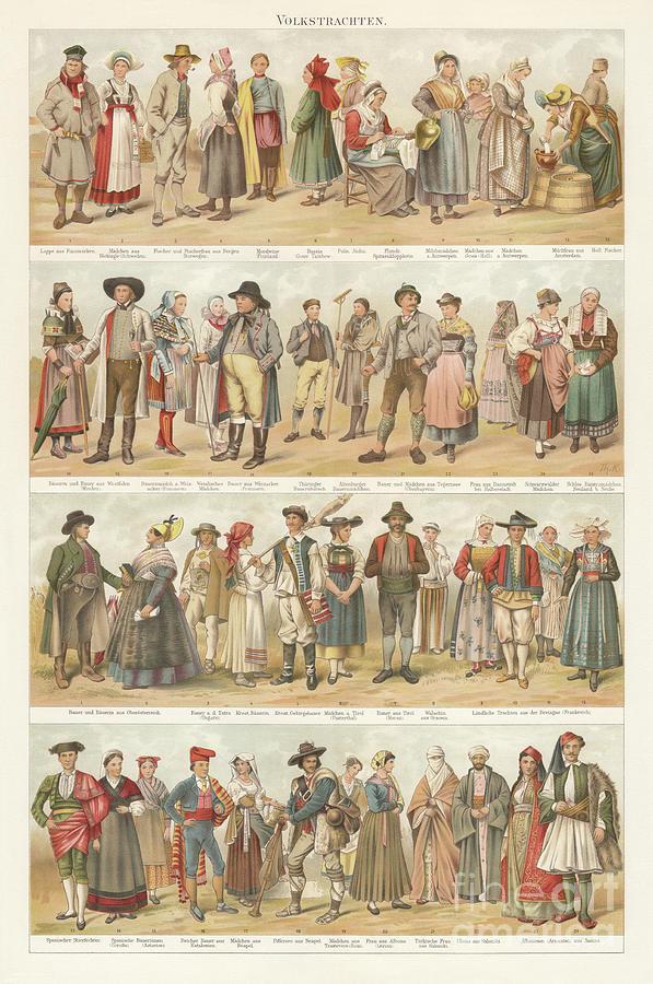European Traditional Ethnic Folklore Digital Art by Zu 09