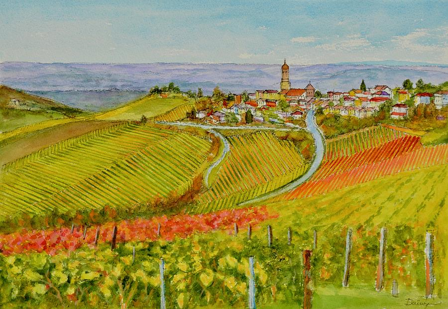 European Wine Country Aquarelle by Dai Wynn