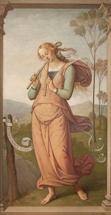 Euterpe, Muse of Poetry by Egide Godfried Guffens