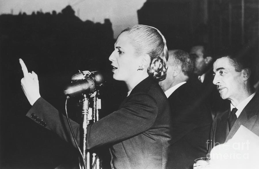 Eva Peron Giving An Election Speech Photograph by Bettmann