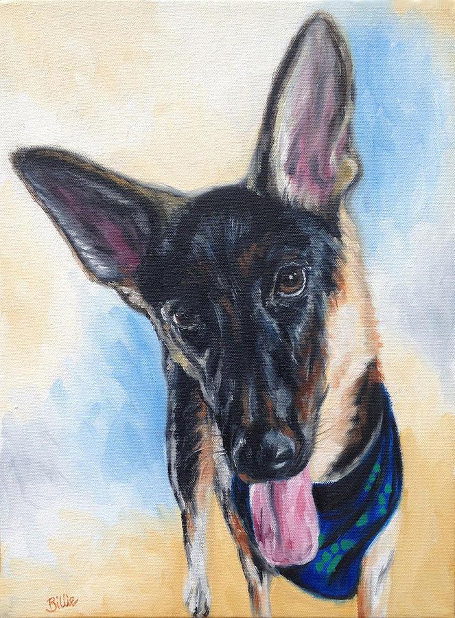 Dog Painting - Eva Shae by Billie Mann