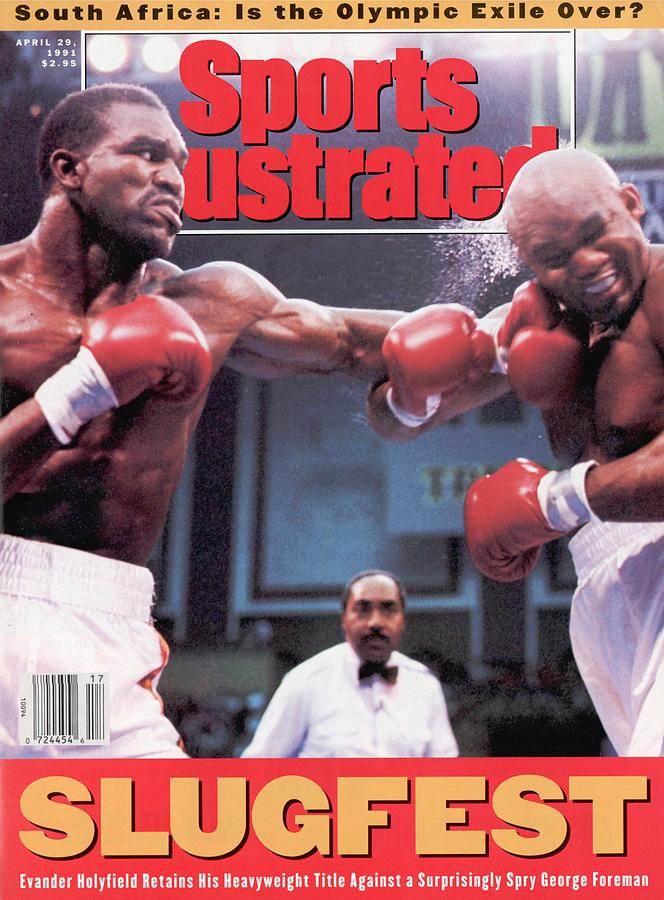Evander Holyfield, 1991 Wbcwbaibf Heavyweight Title Sports Illustrated Cover Photograph by Sports Illustrated