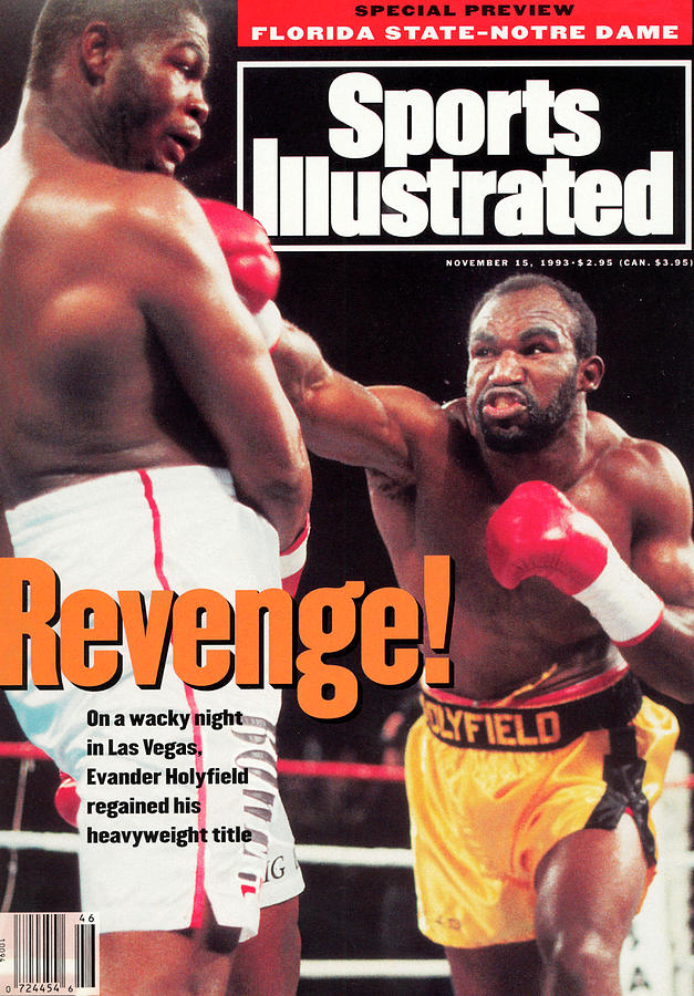 Evander Holyfield, 1993 Wbaibf Heavyweight Title Sports Illustrated Cover Photograph by Sports Illustrated
